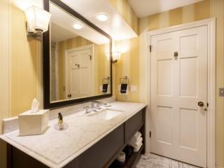 Marble vanity sink in Oceanview King Suite Guest Room