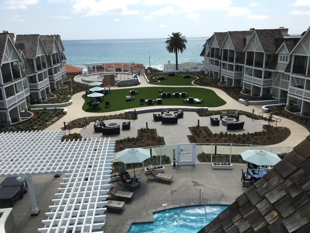 Courtyard Central Green Fire pits adult Jacuzzi pool ocean